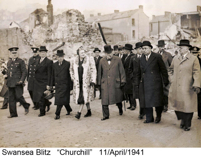 Visit by Churchill