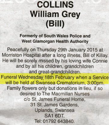 Obituary Bill Colins