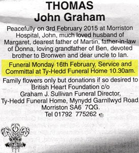 obituary-john graham thomas